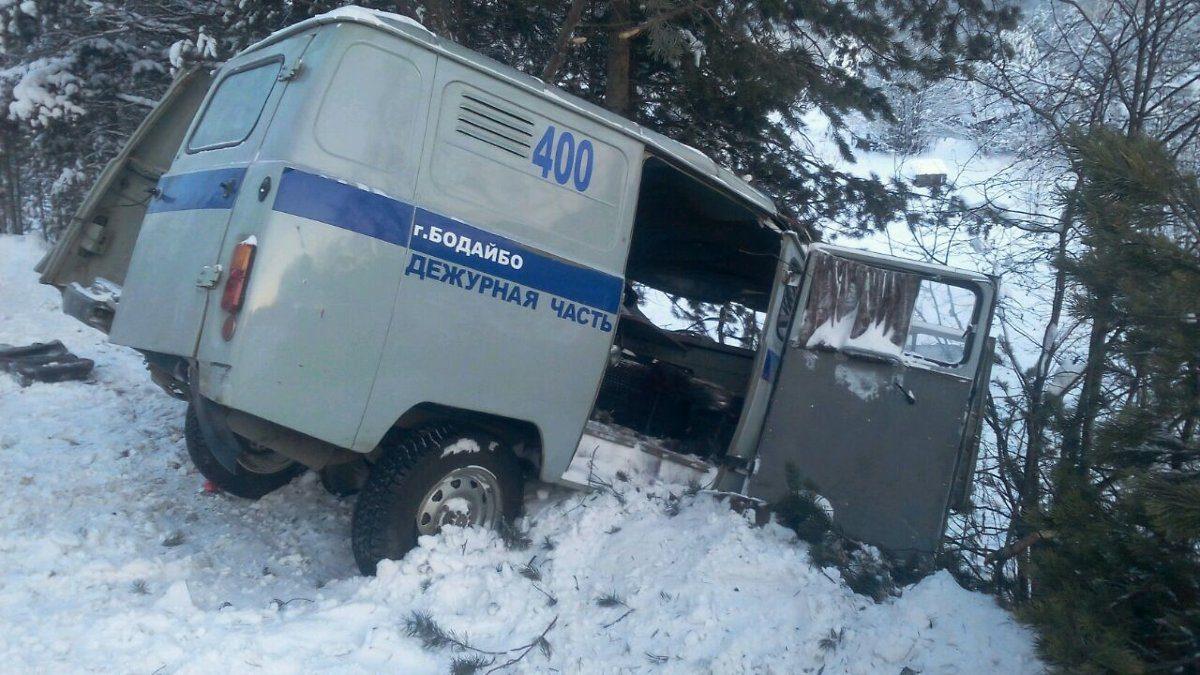 Двое полицейских вИркутской области врезались вдерево наслужебной машине