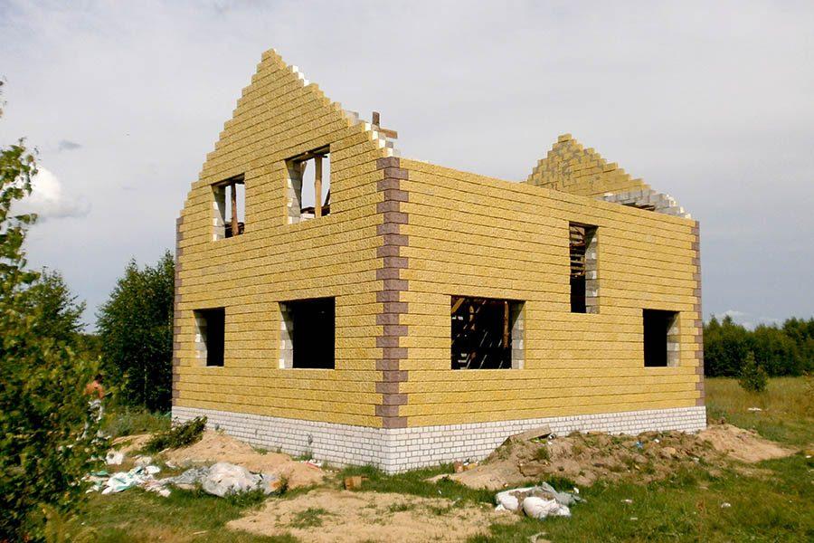 Как строить дом из теплоблоков своими руками