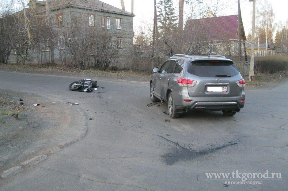 16-летний мотоциклист пострадал вДТП с Ниссан вБратске