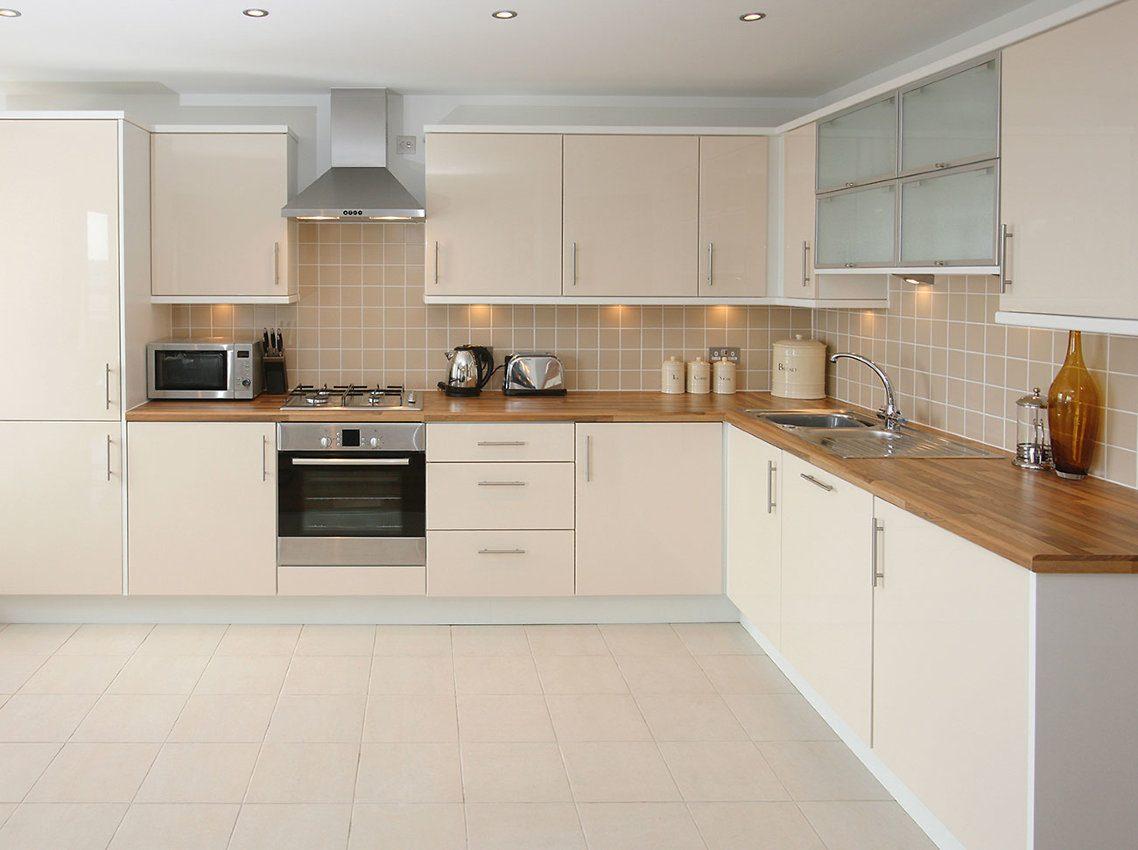 Plastic floor tiles kitchen