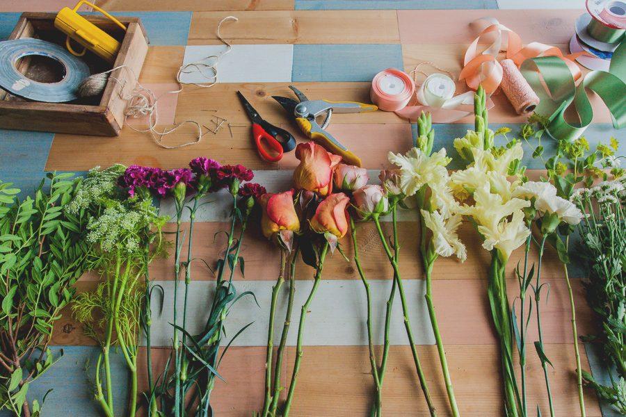 Букет на 1 сентября из садовых цветов своими руками