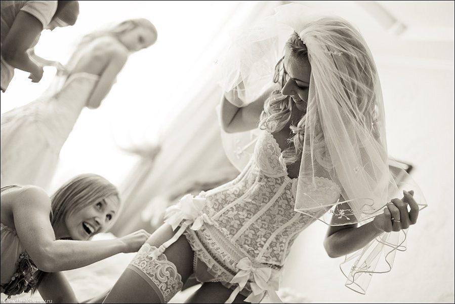 Чулки на невестах 24 фотография