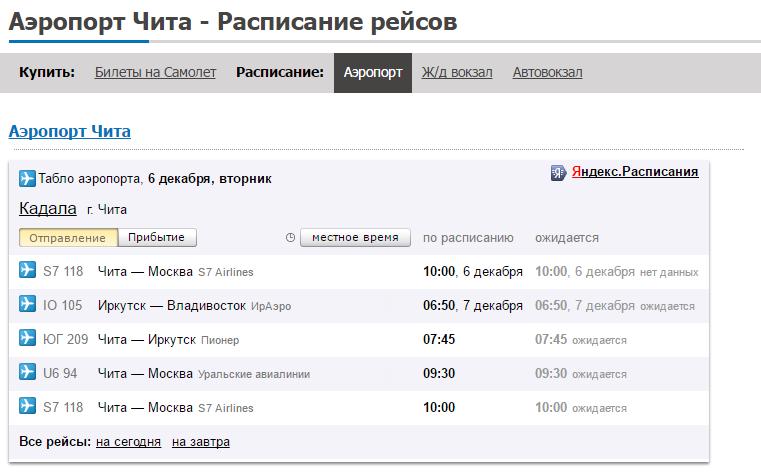 это аэропорт читы расписание рейсов база продаже
